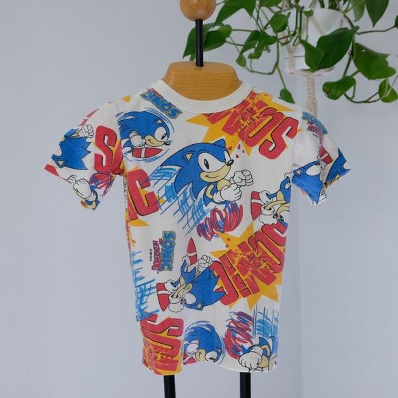 Long Eddie S Shirts Tops Vintage Sonic The Hedgehog Short Sleeve